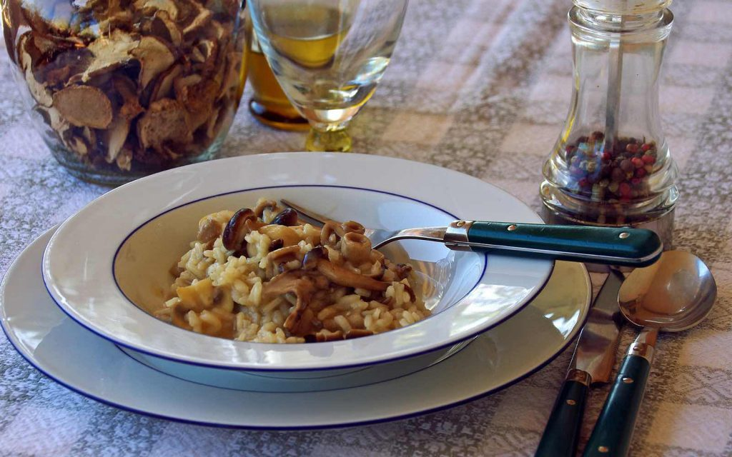 Pilz Risotto ohne Käse