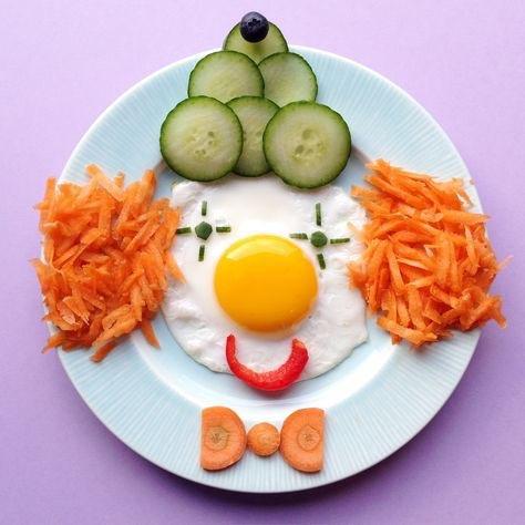 Clown Jause mit Gemüse